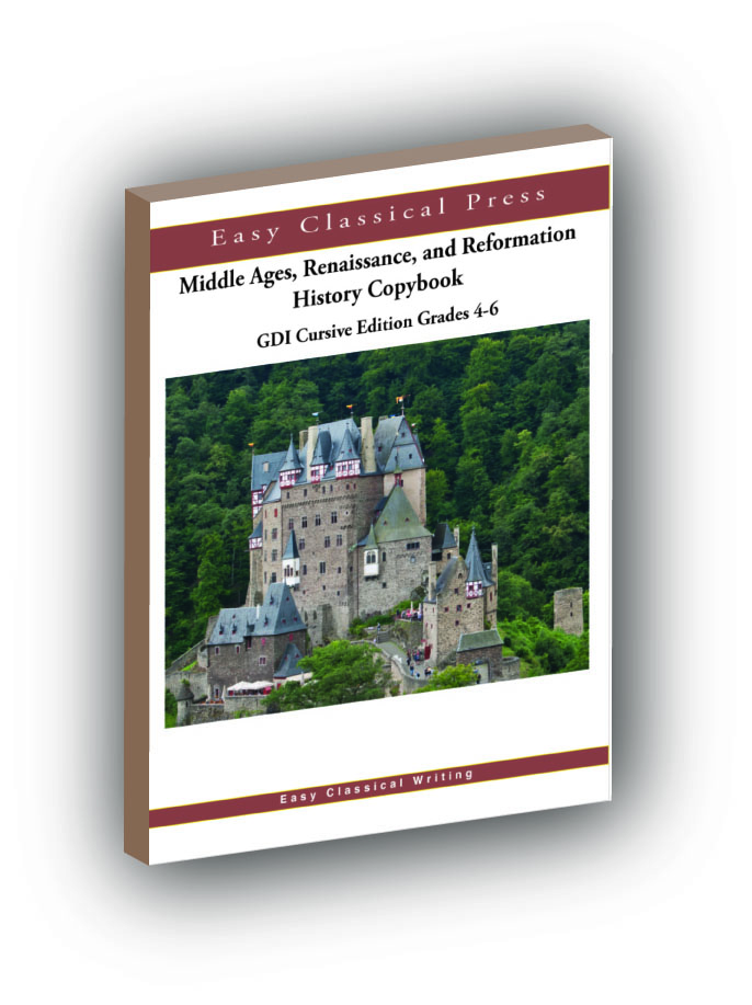 Middle Ages, Renaissance, and Reformation History Copybook 4-6